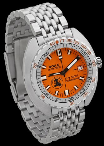 DOXA Diving With Legends 1200T  Pretend you're Dirk Pitt with your own orange Doxa Dive watch