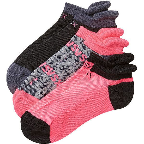 Victoria's Secret Running Socks (£13) ❤ liked on Polyvore featuring intimates, hosiery, socks, pink and pink socks