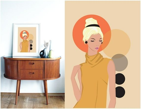 """A3 poster - """"Lady in yellow"""""""