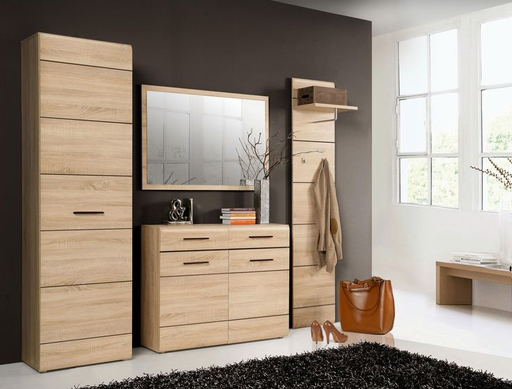 Elegantes Garderoben Set Cora II in trendigen Farben bestehend aus: 1 x Kleiderschrank mit 1 Tür B/H/T 55,1 x 193,9 x 34,7 cm 1 x Schuhschrank mit 2 Schubkästen und 2 Türen...