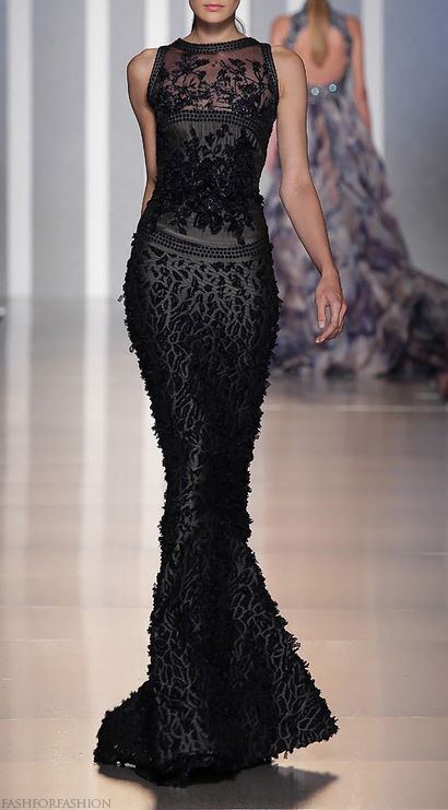 .: Black Lace, Fashion, Style, Dresses, Tonyward, Tony Ward, Black Dress, Haute Couture