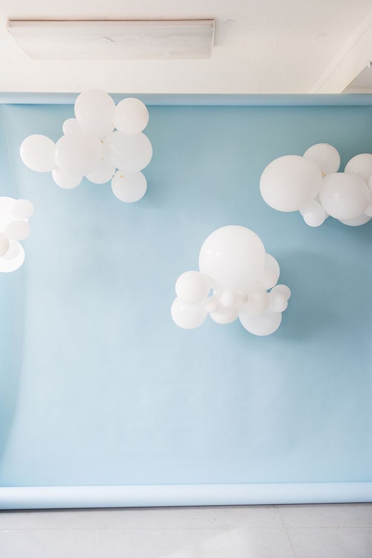 DIY Cloud Balloons Backdrop - The House That Lars Built
