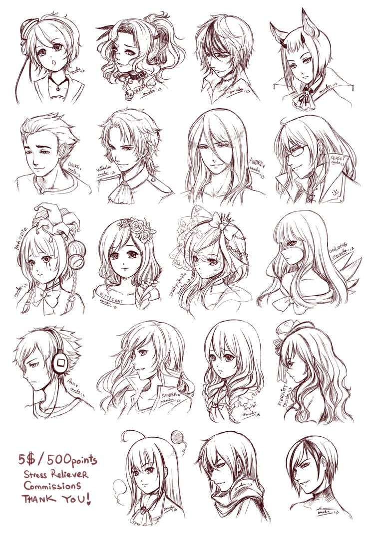 Hairstyles For Long Hair Drawing : Capelli negli anime, Manga and Anime on Pinterest