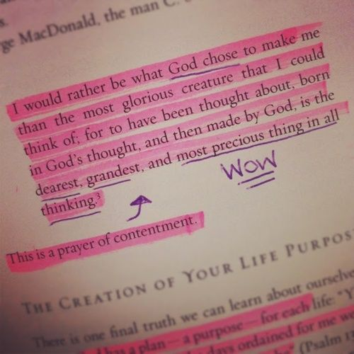 The prayer of contentment