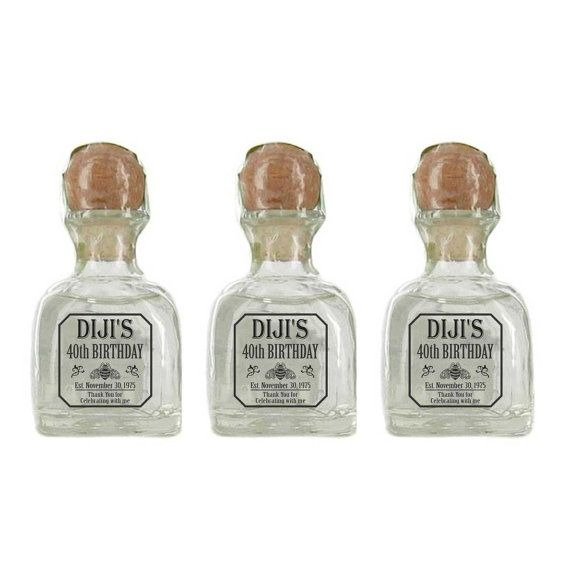 Personalized 50 Ml Mini Tequila Labels By Liquorlabelsshop