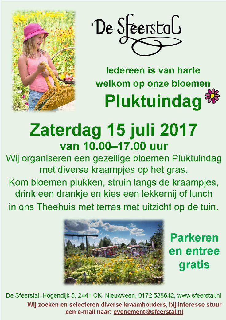 Op 15 Juli organiseren wij een gezellige bloemen pluktuindag met diverse kraampjes op het gras.