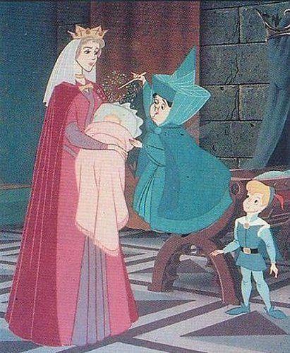 *QUEEN LEAH, PRINCESS AURORA, MERRYWEATHER & PRINCE PHILLIP ~ Sleeping Beauty, 1959