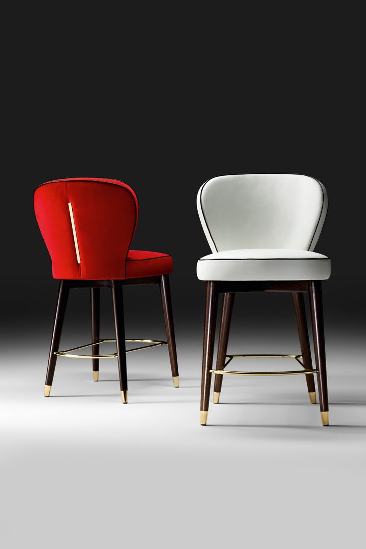 Every inch a statement of outstanding elegance and design, the High End Italian Designer Bar Stool is seductive. Timeless glamour. To suit both a classic or contemporary interior for the refined design lover, the perfect addition to any bar area or kitchen. A statement of outstanding sophistication and superb comfort.