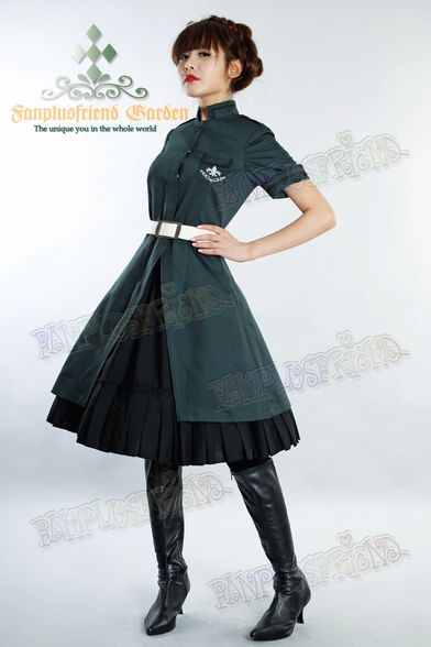 """Wonder Powers"" Military Lolita Short Sleeves Dress & Skirt*2colors - fanplusfriend"