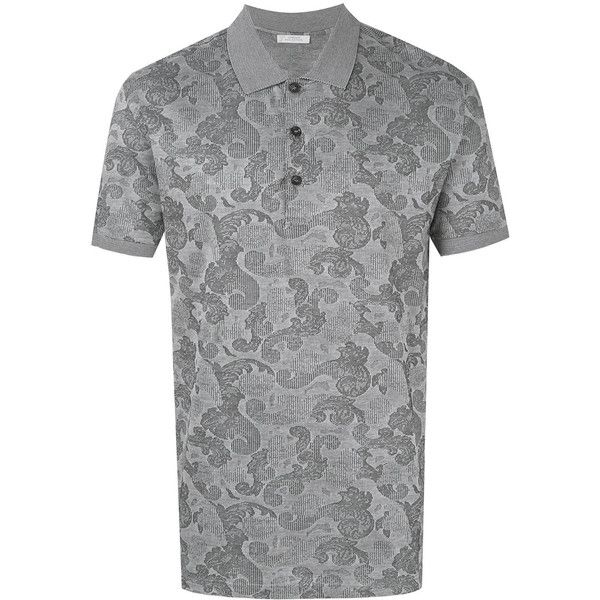 Versace Collection paisley patterned polo shirt ($320) ❤ liked on Polyvore featuring men's fashion, men's clothing, men's shirts, men's polos, black, mens polo shirts, mens paisley shirt, men's paisley print shirt, men's cotton polo shirts and mens cotton shirts