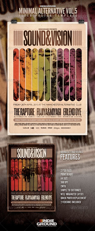 Quick poster design - Minimal Alternative Flyer Poster Vol 5