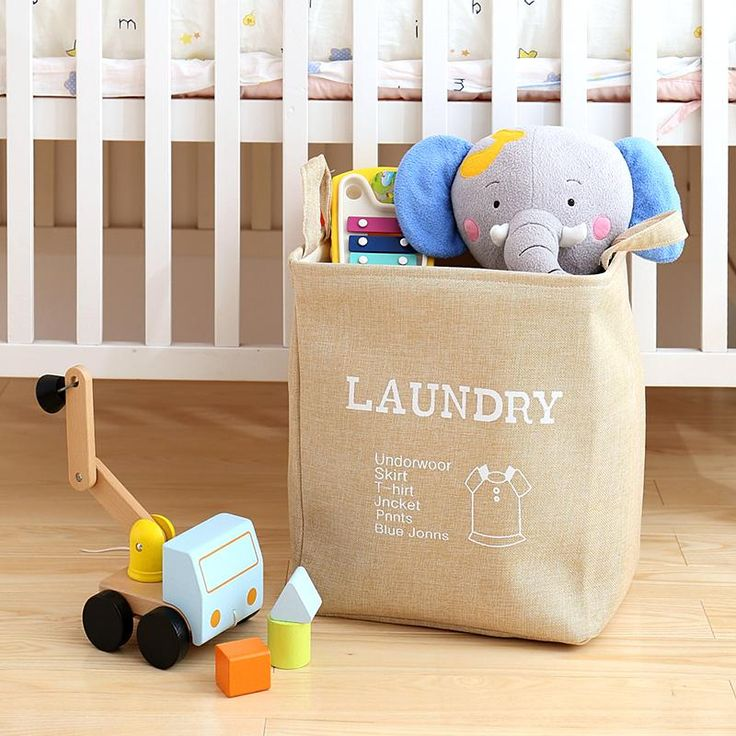 2017 New Large Laundry Hamper Bag Cartoon Clothes Storage Baskets Home  Clothes Barrel Bags Kids Toy