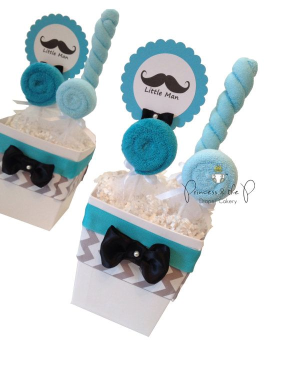 Little Man Mustache Grey Chevron By PrincessAndThePbaby On Etsy, $39.95. Little  Man CenterpiecesBaby Shower ...