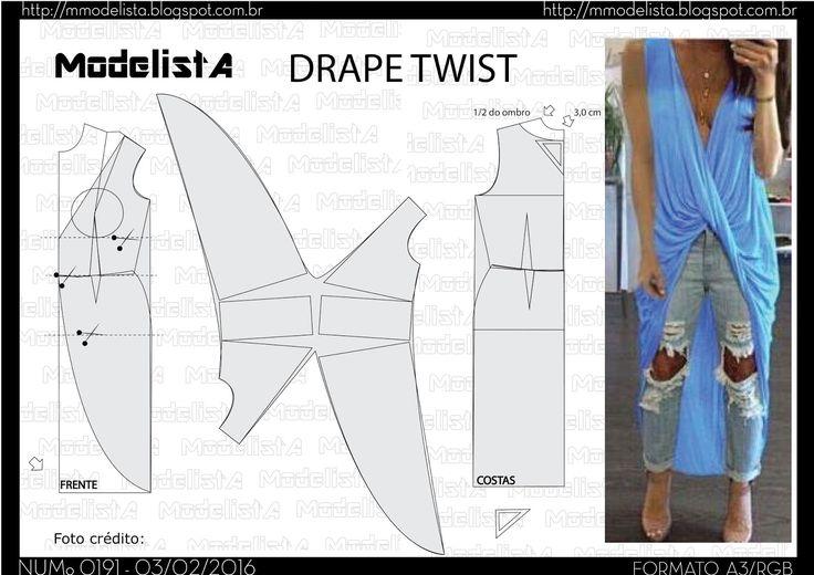 ModelistA: A3 NUM o 0191 DRAPE TWIST