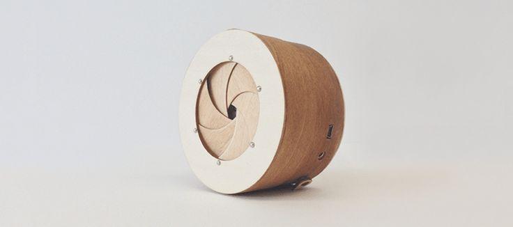 SoundBarrel, l'enceinte Bluetooth inspirée d'un objectif d'appareil photo