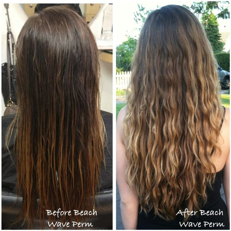 Beach Wave Perm Before And After Beach Wave Perm Done By