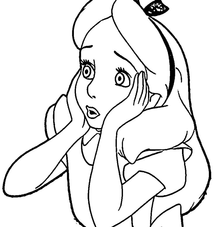 Alice In The Wonderland Coloring Pages Coloring pages
