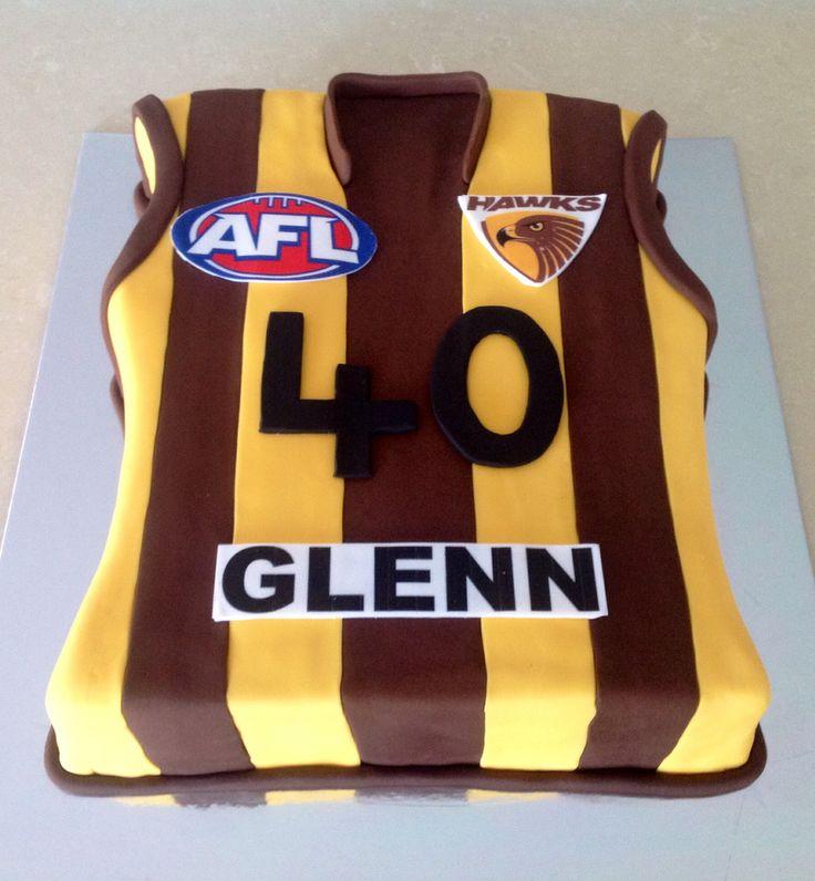 Hawthorn AFL Cake!