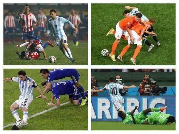 Każdy z rywali Argentyńczyka gryzie zazwyczaj glebę po jego błyskotliwym dryblingu • Lionel Messi potrafi skręcić dosłownie każdego >>