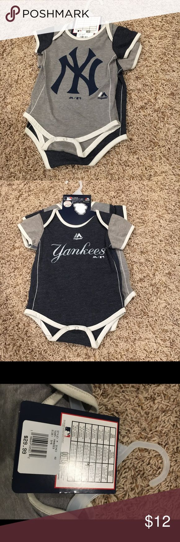 Infant Yankees team onesie set size 3-6 month Brand new with tags Yankees team onesie set size 3-6 month One Pieces Bodysuits
