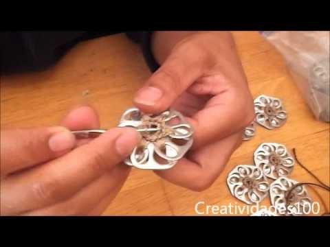 1º parte Como hacer una bolsa con fichas de aluminio: Bolso Queta
