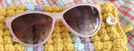 CROCHET PATTERN - SUNGLASSES CASE from Lula Loves (UK terms)