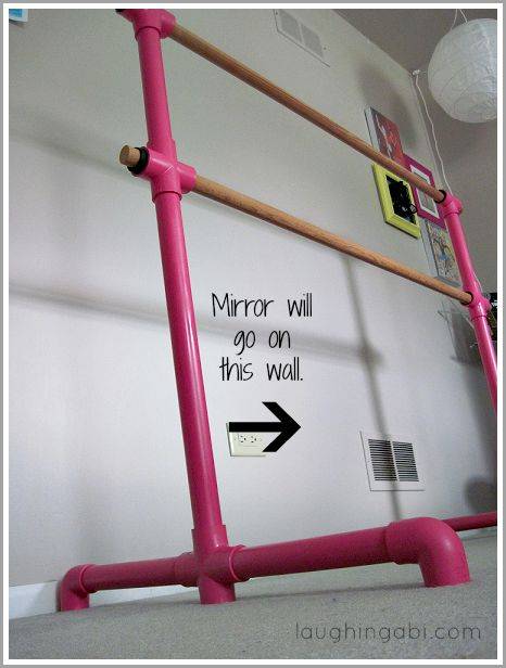 Assemble an easy ballet bar on the cheap. @ Erin Anderson, this would be cool in your basement
