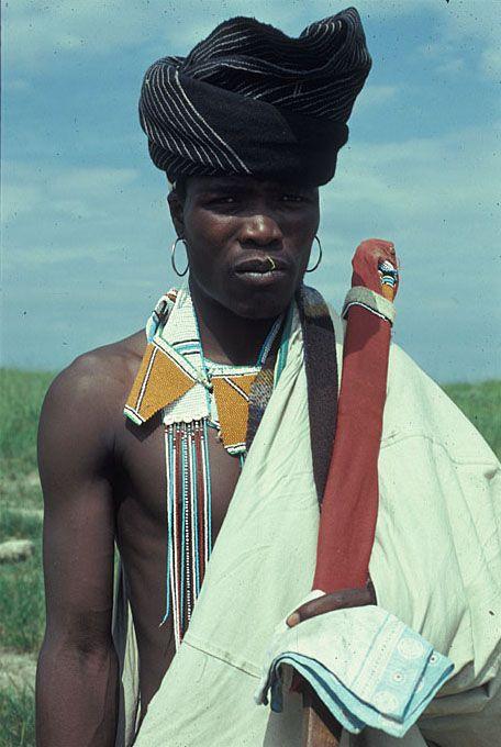 Africa | Xhosa man. Transkei, South Africa. 1967 - 1976 | ©Digital Library University of Wisconsin--Madison. African Studies Program. Photographer Harold E Scheub