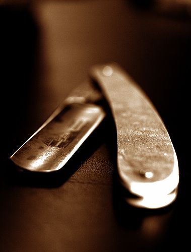 Straight razor. Find yours at the @Matty Chuah Art of Shaving.