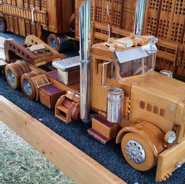 Semi made from wood. Love this!