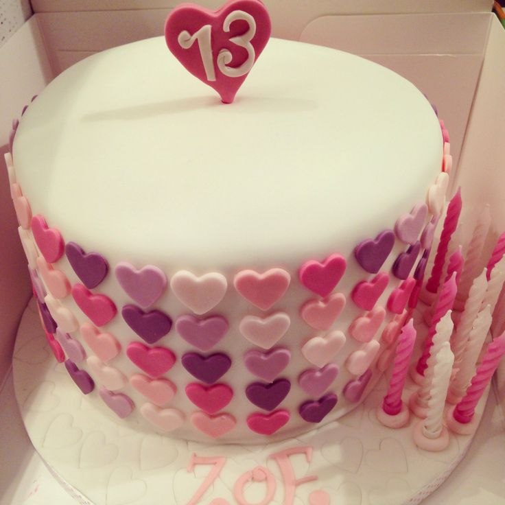 Hearts cake for teenager !