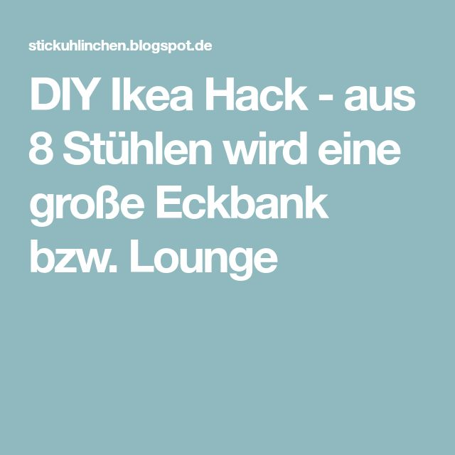 die besten 25 ikea hack eckbank ideen auf pinterest eckbank ikea sitzbank diele ikea und. Black Bedroom Furniture Sets. Home Design Ideas