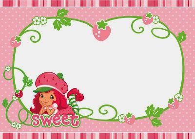 Kit de Strawberry Shortcake para Imprimir Gratis.