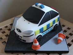 Police car birthday cake   Police car cake made for a 7 year…   Flickr