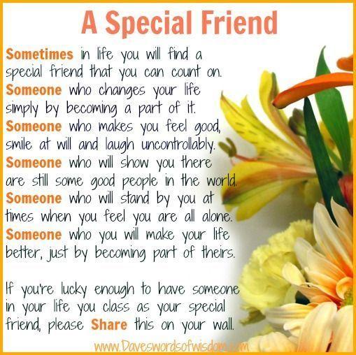 A Special Friend friendship quote hello friend friendship quote friend quote poem thinking of you graphic friend poem