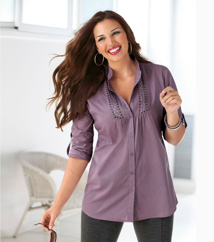 camisa mujer gorditas venca violeta