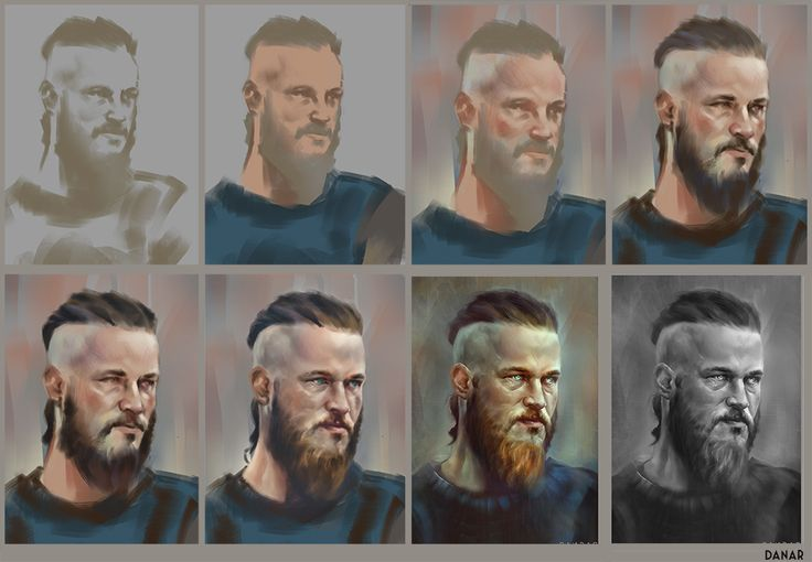 Progress of RAGNAR painting. by DanarArt.deviantart.com on @deviantART
