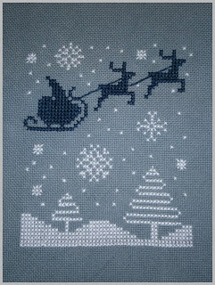 Free Santa and Reindeer chart - I have already digitized this one for machine embroidery
