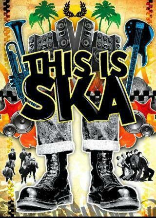 This is SKA..........   Both first (1960s) and second (1980s) generation skins were influenced by the heavy, repetitive rhythms of dub, as well as ska, rock steady, reggae, and African-American soul music.