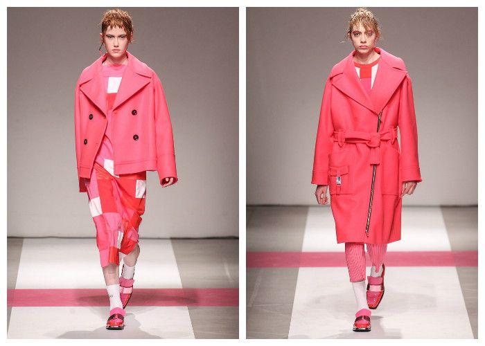 Модные розовые пальто 2017, фото