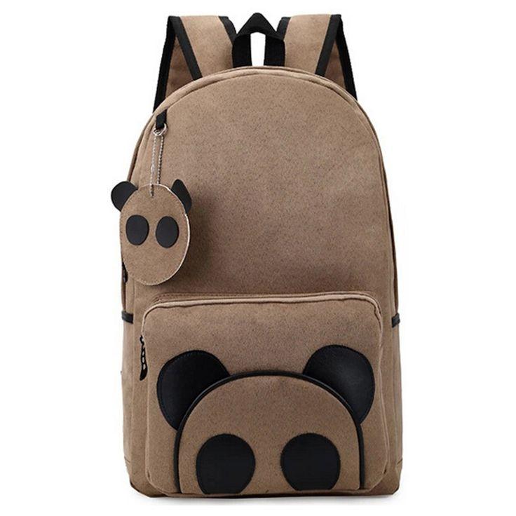 Aliexpress.com: Comprar Lona de la marca mochilas Cute Panda de dibujos animados para adolescentes taleguilla del bolso de libro oxford Casual mochilas Bolsas de para los adolescentes fiable proveedores en Coofit store