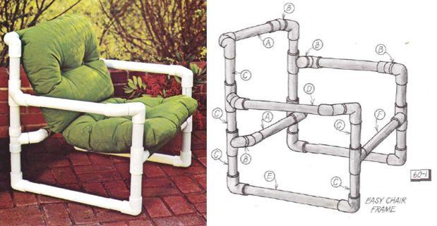 Best 25 pvc chair ideas on pinterest pvc furniture diy for Pvc pipe chair plans