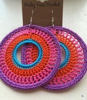 Boho crochet earrings … by virgie