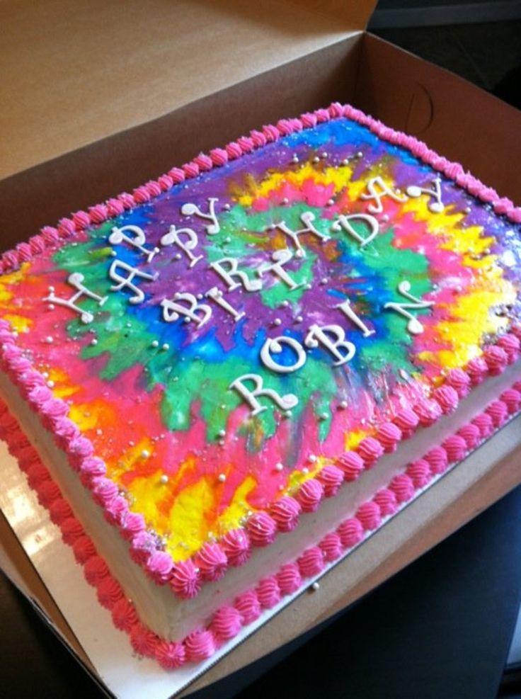 Tie Dye Sheet Cake Cakes Cake Birthday Cake Tie