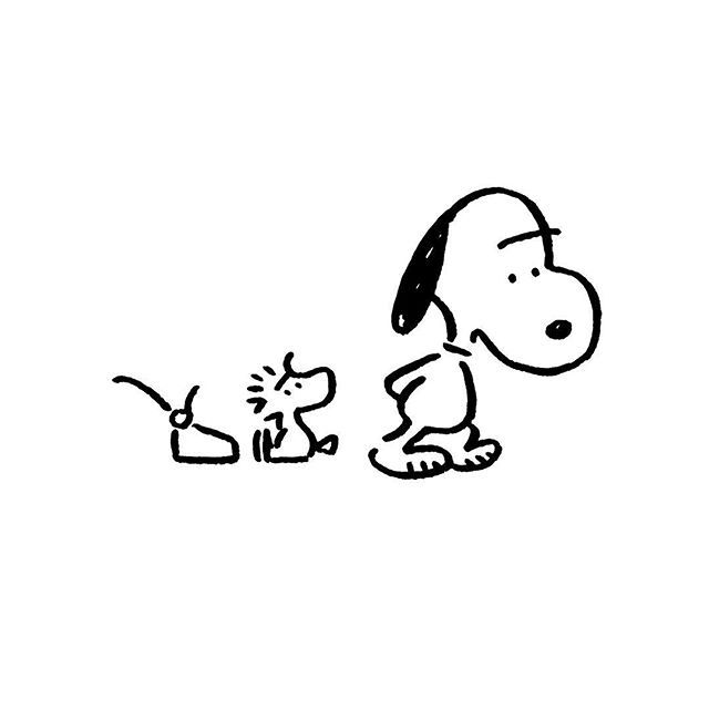 Snoopy & Woodstock. 長場雄