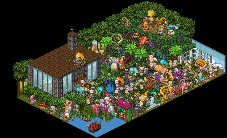 Monster Plants Take over Habbo Hotel! - image courtesy of Nicklas (@Xepsjonell)