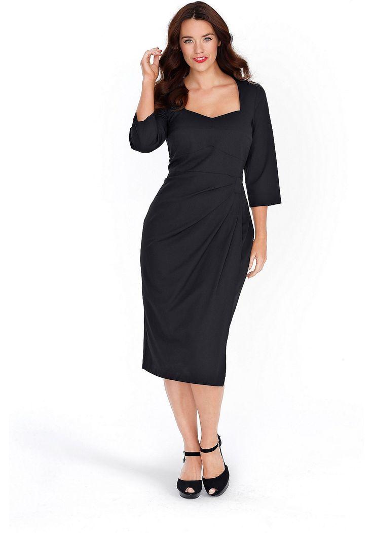 Sheego Anna Scholz Bustierkleid in 2in1-Optik - schwarz   Damenmode online kaufen