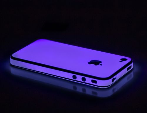 iPhone 4S Purple Glow in the Dark Skins, Wraps and Cases from SlickWraps