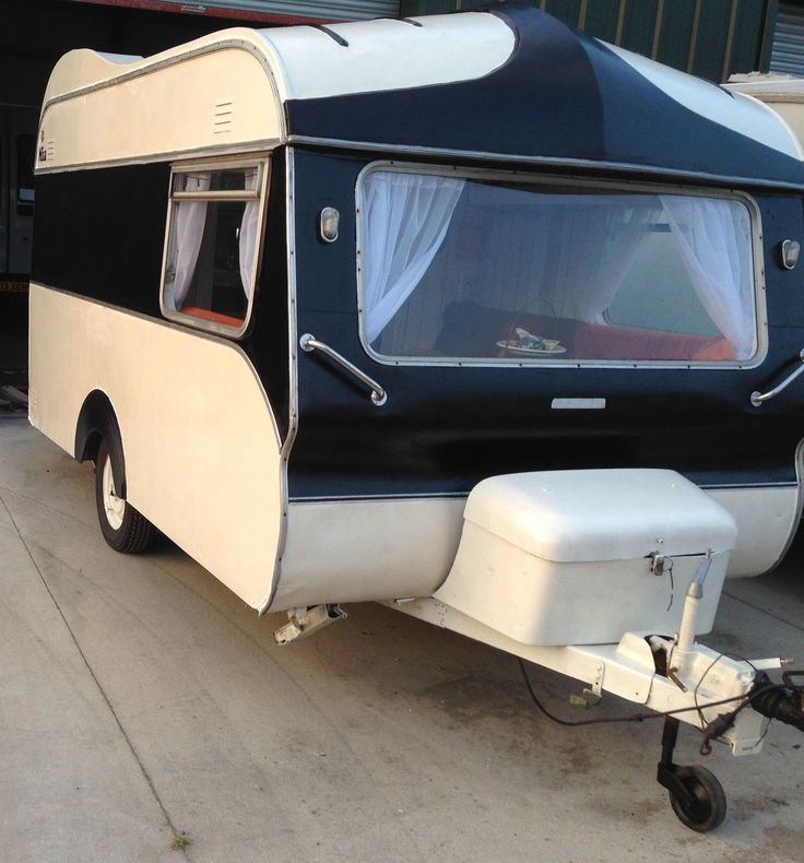 Classic vintage Avondale Wren 1975 retro caravan 2 berth black cream orange | eBay