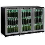 CyberCool 330L Three-Door Under Bench Drinks Bar Fridge